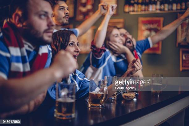 excited fans - south_agency stock pictures, royalty-free photos & images