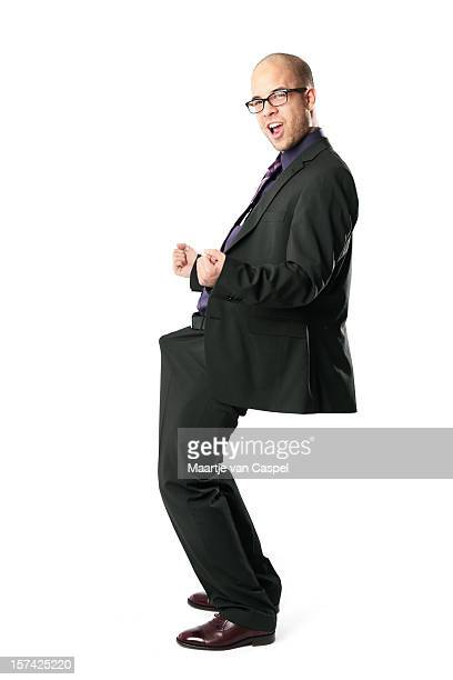 Excited Funny Businessman - Celebrate!