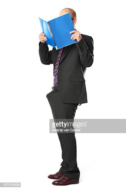 Excited Funny Businessman - Magazine