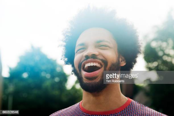 excited man looking up - overexposed stock pictures, royalty-free photos & images