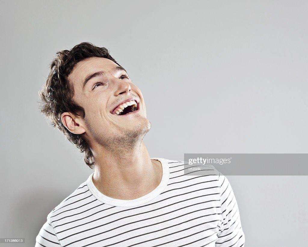 Aufgeregt Mann : Stock-Foto