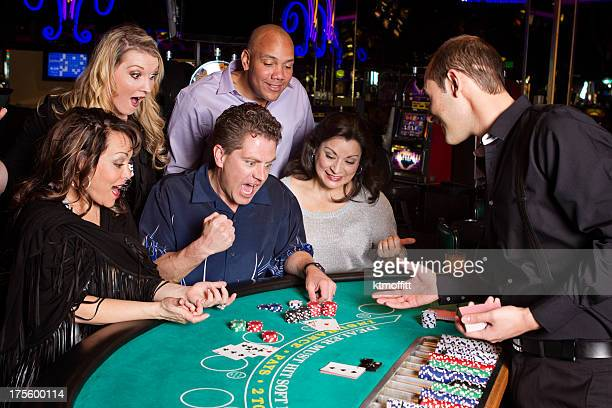 Excited Man With Blackjack Hand