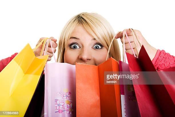 Shopping femme heureux
