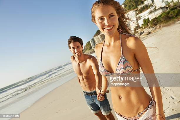 excited to be together on the beach - beautiful people stock pictures, royalty-free photos & images