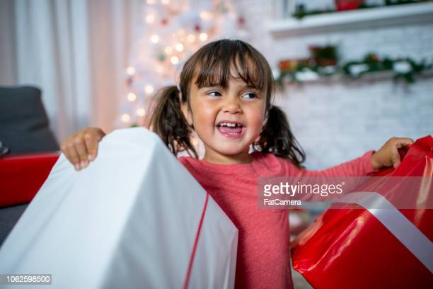 excited with presents - fatcamera stock pictures, royalty-free photos & images