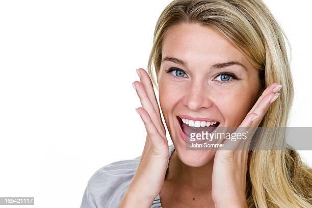 Begeistert junge Frau