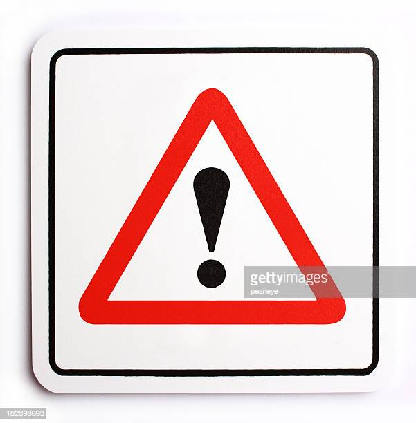 exclamation - warning sign stock pictures, royalty-free photos & images