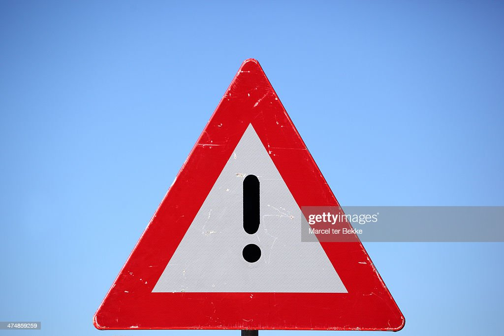 Exclamation sign! : Stock Photo
