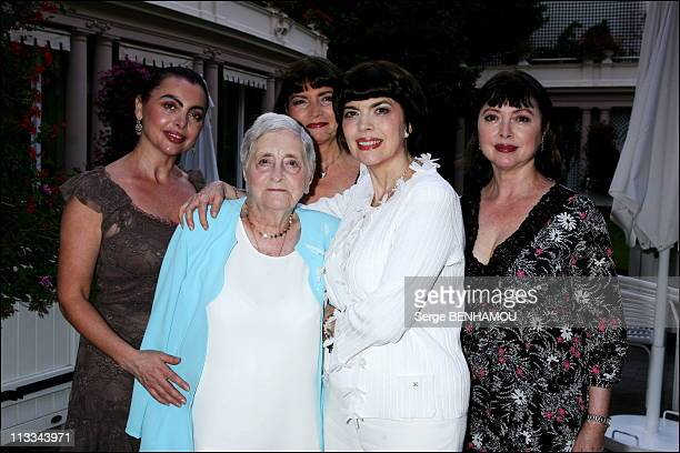 Exclusive 60Th Birthday Of Mireille Mathieu At The Hotel Bristol In Paris On July 22Nd 2006 In Paris France Here Mireille Mathieu With Her Mother...
