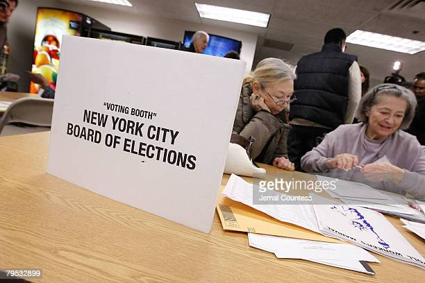*Exclusive Access* Rap Mogul Sean Diddy Combs visits a New York polling station at Coalition High School to urge all New Yorkers to get out and vote...