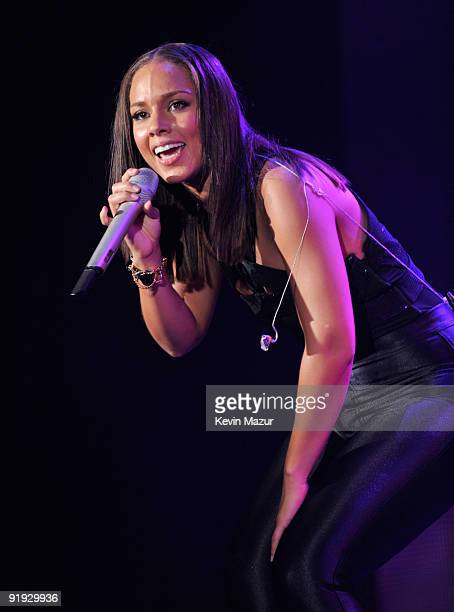 NEW YORK OCTOBER 15 *Exclusive* Alicia Keys on stage at Hammerstein Ballroom during Keep A Child Alive's 6th Annual Black Ball hosted by Alicia Keys...
