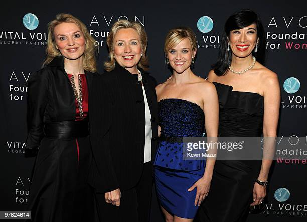 WASHINGTON MARCH 10 *Exclusive* Alyse Nelson President and CEO of Vital Voices Secretary of State Hillary Clinton Honorary Chairperson of the Avon...