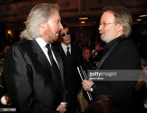 *Exclusive* Barry Gibb Robin Gibb and inductee Benny Andersson of ABBA attend the 25th Annual Rock and Roll Hall of Fame Induction Ceremony at The...