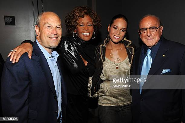 NEW YORK JULY 21 *Exclusive* Barry Weiss Chairman and CEO RCA/Jive Label Group Whitney Houston Alicia Keys and Clive Davis Cheif Creative Officer...