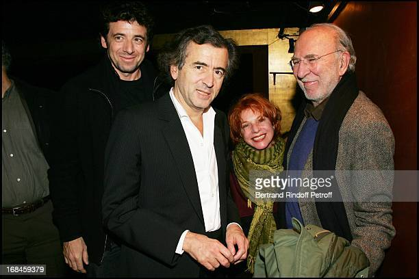 Exclusive Bernard Henri LevyPatrick Bruel Jean Pierre Marielle and Agathe Natanson at Exclusive Dress Rehearsal Of The Old Blond Jew Amanda Sthers