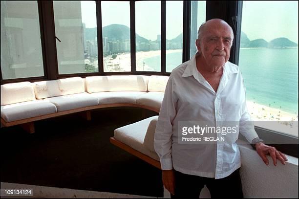 Exclusive Brazilian Architect Oscar Niemeyer In His Copacabana Studio On March 14Th 2002 In Rio De Janeiro Brazil