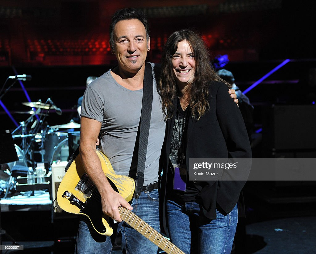 *Exclusive* Bruce Springsteen and Patti Smith during rehearsals for the 25th Anniversary Rock & Roll Hall of Fame Concert at Madison Square Garden on October 30, 2009 in New York City.
