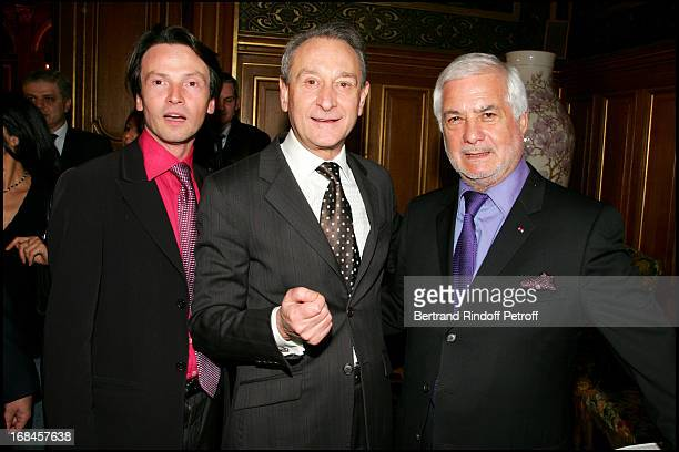 Exclusive Bruno Finck Bertrand Delanoe and Jean Claude Brialy at Exclusive Alain Delon Is Awarded The Medal Of The City Of Paris