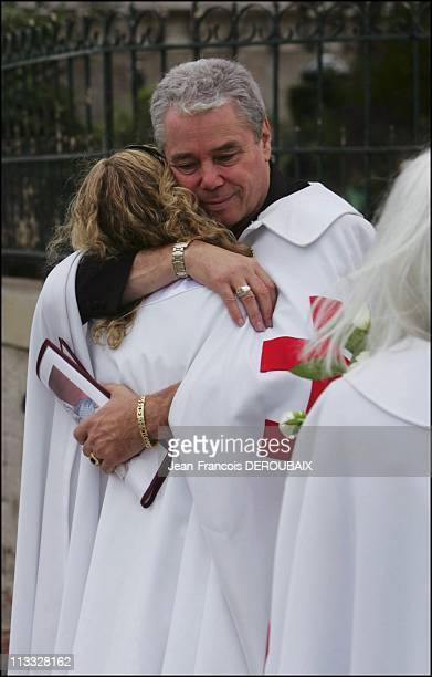 Exclusive Ceremony Of The Temple Knights In Paris On September 11Th 2005 In Paris France Here Avoiding 'Da Vinci Code' Fans Dozens Of Temple Knights...