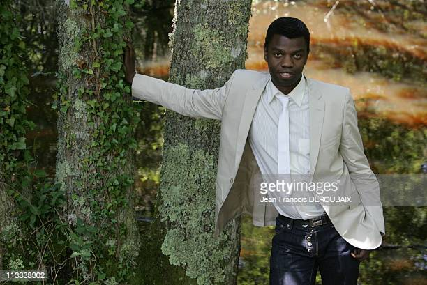 Exclusive Close Up Of JeanBarthelemy Bokassa In Neuvy France On June 07 2008 JeanBarthelemy Bokassa grandson of emperor Bokassa 1st walks in the...