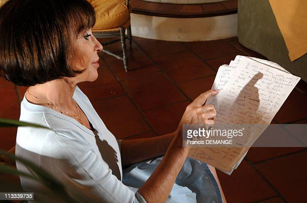 Exclusive CloseUp Of Daniele Evenou French Actress At Home In Luberon In Bonnieux France On August 18 2008 Daniele Evenou actress at home in Luberon...
