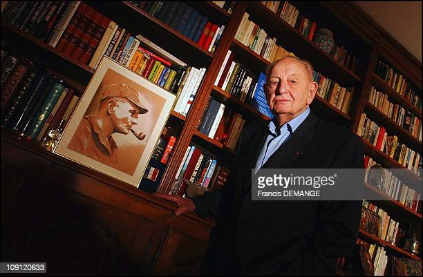 Exclusive CloseUp Of General Marcel Bigeard On April 29 2004 In Toul France General Marcel Bigeard In His Office In Toul France 50 Years After The...