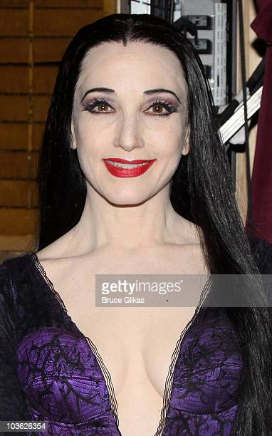 *Exclusive Coverage* Bebe Neuwirth poses backstage at The Addams Family On Broadway at the LuntFontanne Theatre on August 24 2010 in New York City