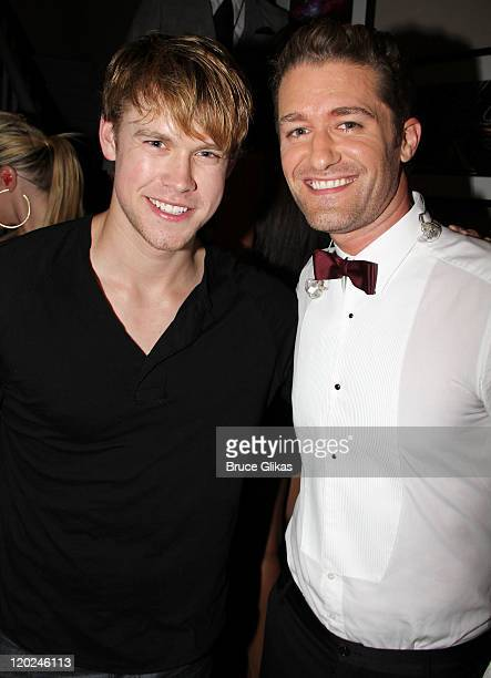 *Exclusive Coverage* Chord Overstreet and Matthew Morrison pose backstage at 'Matthew Morrison Back On Broadway One Night Only' at the Beacon Theatre...