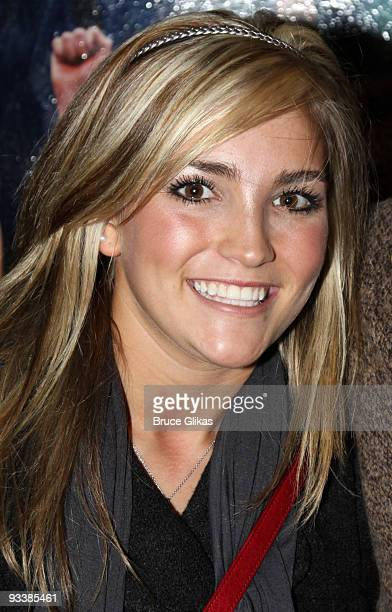 *Exclusive Coverage* Jamie Lynn Spears poses at the hit musical Rock of Ages on Broadway at The Brooks Atkinson Theatre on November 24 2009 in New...