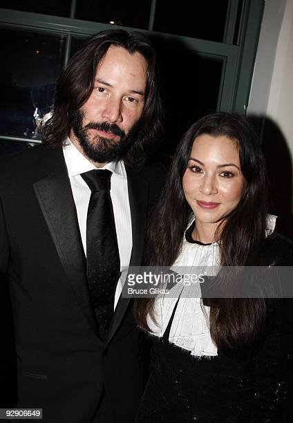 *Exclusive Coverage* Keanu Reeves and China Chow pose at the Stage Directors And Choreographers Society 50 Year Celebration at Tribeca Rooftop on...