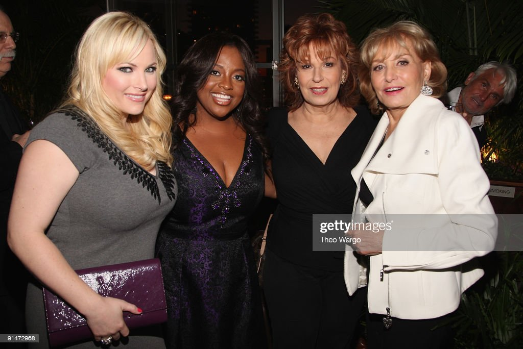 **Exclusive Coverage** Meghan McCain, Sherri Shepherd, Joy Behar and Barbara Walters attend the Launch Party for new sitcom 'Sherri' at the Empire Hotel on October 5, 2009 in New York City.