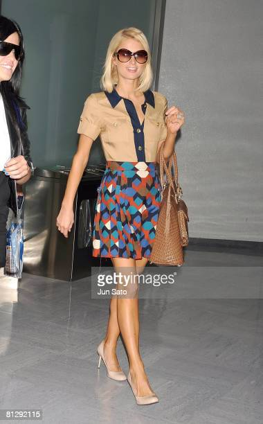 **Exclusive Coverage** Paris Hilton arrives at Narita International Airport on May 30 2008 in Narita Chiba Japan