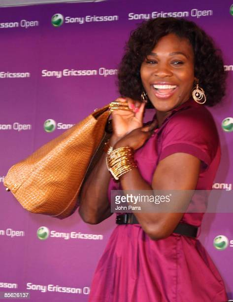 **Exclusive Coverage** Serena Williams unveils the Signature Statement exclusive fashion and accessories collection for HSN at the Tennis Center at...