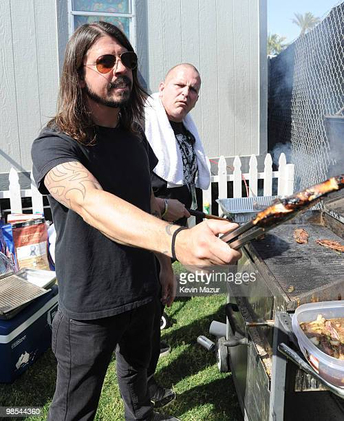 INDIO CA APRIL 16 *Exclusive* Dave Grohl backstage during Day 1 of the Coachella Valley Music Arts Festival 2010 held at the Empire Polo Club on...