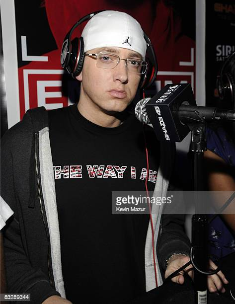 NEW YORK OCTOBER 15 *Exclusive* Eminem attends 'Eminem The Way I Am' book release party at Nort/Recon on October 15 2008 in New York
