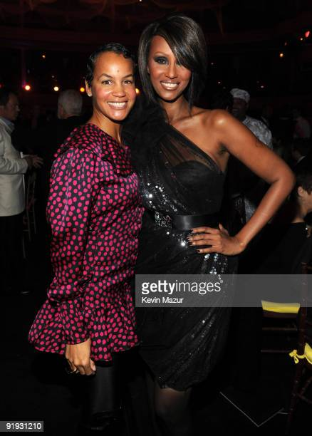 NEW YORK OCTOBER 15 *Exclusive* Erica Reid and Iman at Hammerstein Ballroom during Keep A Child Alive's 6th Annual Black Ball hosted by Alicia Keys...