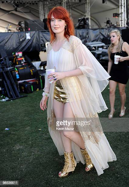 *Exclusive* Florence Welch of Florence and the Machine backstage before she performs during the Day 3 of the Coachella Valley Music Arts Festival...
