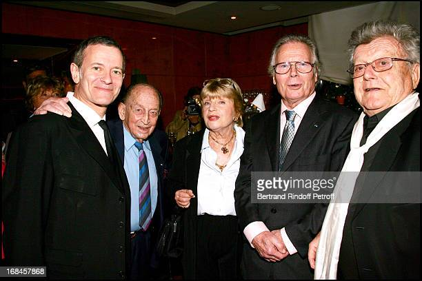 Exclusive Francis Huster Jean Louis Joubert Francoise Dorin Jean Piat and Jose Artur at Exclusive Surprise Birthday Party for Pierre Huth In The...