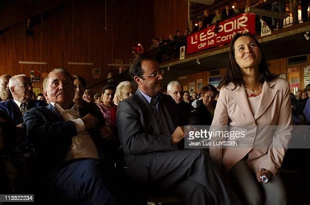 Exclusive Francois Hollande And Segolene Royal At The Celebration Of Rose Of Uzerche On October 16Th 2005 In Uzerche France Here Francois Hollande...