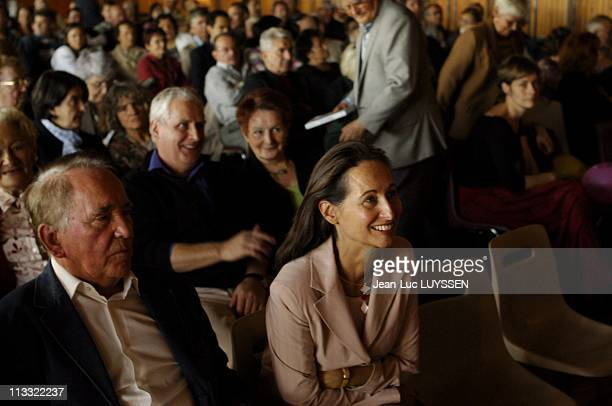 Exclusive Francois Hollande And Segolene Royal At The Celebration Of Rose Of Uzerche On October 16Th 2005 In Uzerche France Here Rene Teulade And...