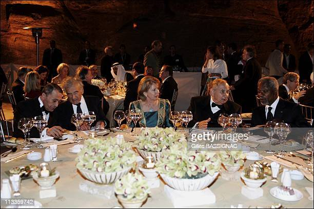 Exclusive Gala Dinner At Little Petra At The Occasion Of The Third Petra Conference Of Nobel Laureates In Petra Jordan On May 15 2007 Jordanian Prime...