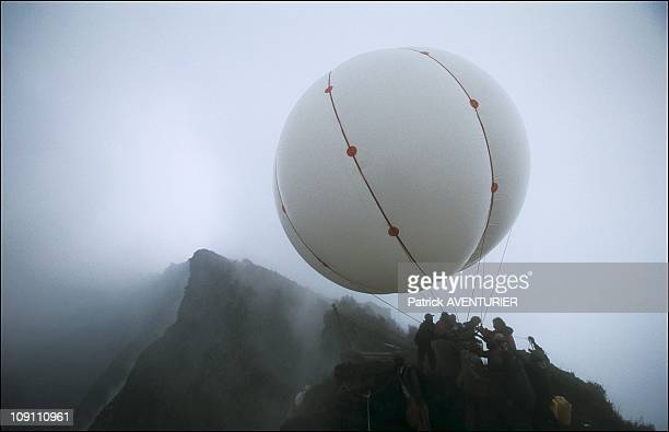 Exclusive: Goma - Two Years Later - Nyiragongo A Volcano In The City. On July 1, 2003 In Goma, Congo. Bringing The Balloon Down Into The Crater On...
