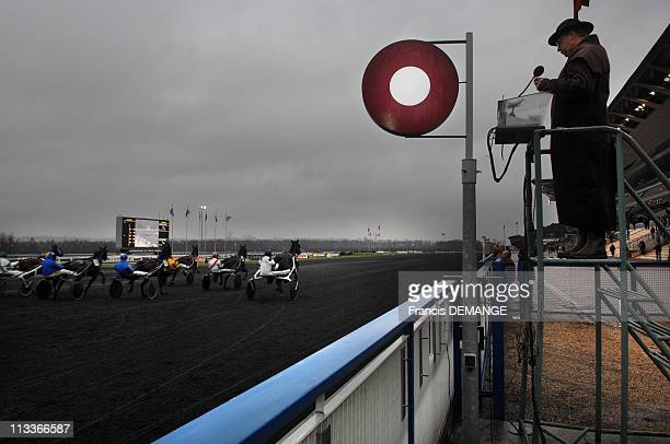 Exclusive 'Grands Prix' Backstages In Paris France On January 18 2008 Vincennes's racecourse measures 42 hectares It is specified for horse shows...