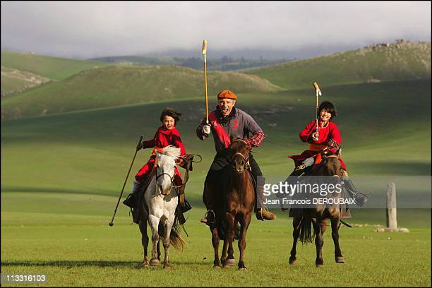 Exclusive Guy Marchand And Adelina In Mongolia On August 12Th 2005 In Mongolia
