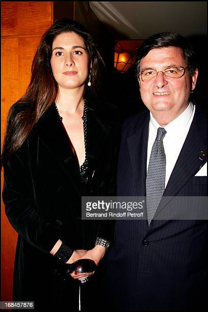 Exclusive Jean Becq De Fouquieres and his daughter Marie Caroline Ferry at Exclusive Surprise Birthday Party for Pierre Huth In The Restaurant Of...