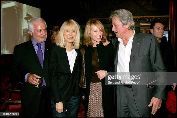 Exclusive Jean Claude Brialy Mireille Darc Nathalie Baye at Exclusive Alain Delon Is Awarded The Medal Of The City Of Paris