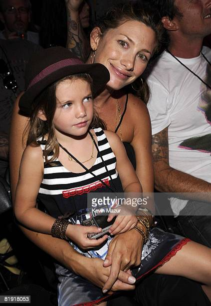 *Exclusive* Jill McCormick and Olivia Vedder in the audience at the 2008 VH1 Rock Honors honoring The Who at UCLA's Pauley Pavilion on July 12 2008...