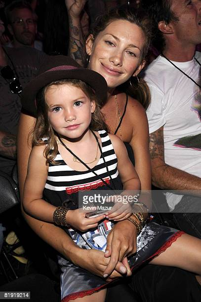 WESTWOOD CA JULY 12 *Exclusive* Jill McCormick and Olivia Vedder in the audience at the 2008 VH1 Rock Honors honoring The Who at UCLA's Pauley...