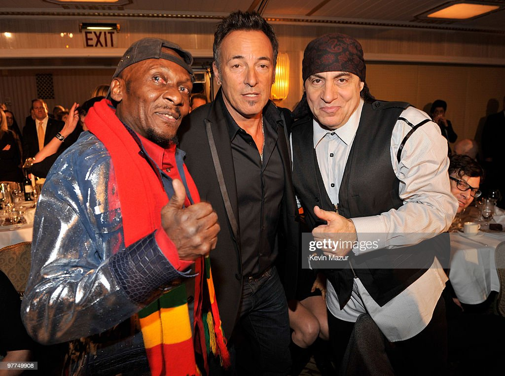 *Exclusive* Jimmy Cliff, Bruce Springsteen and Steven Van Zandt attends the 25th Annual Rock and Roll Hall of Fame Induction Ceremony at The Waldorf=Astoria on March 15, 2010 in New York, New York.
