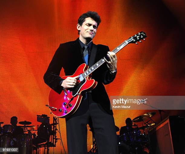 NEW YORK OCTOBER 15 *Exclusive* John Mayer on stage at Hammerstein Ballroom during Keep A Child Alive's 6th Annual Black Ball hosted by Alicia Keys...